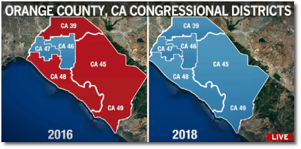 Republicans lose every congressional district seat in Orange County (16 Nov 2018)