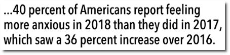 Americans report feeling increasingly more anxious since Trump elected (22 Dec 2018)