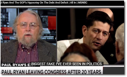 Paul Ryan is the biggest fake in politics says Charlie Pierce .. nobody is even close (19 Dec 2018).