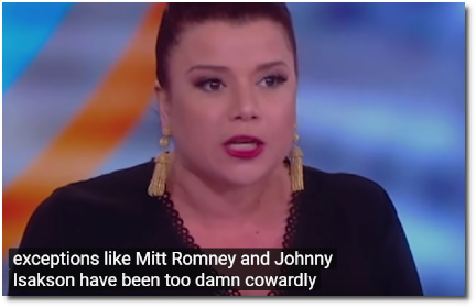 Republican strategist Ana Navarro says Republicans have been too damn cowardly (at t=2:00, 21 March 2019).