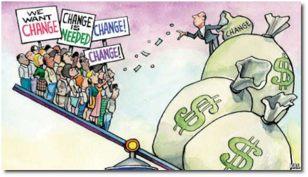 Economic inequality cartoon