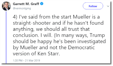 Good thing for Trump that Mueller is not the democratic version of Ken Starr (21 March 2019)