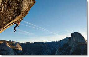 Free-climbing in Yosemite