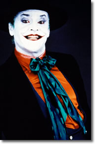 Jack as the Joker dressed as a mime