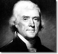 Thomas Jefferson | Signatory Declaration of Independence who said 'The price of liberty is eternal vigilance'