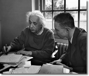Einstein & Oppenheimer at Princeton