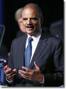 Eric Holder, Attorney General, August 12, 2013, addresses the annual meeting of the American Bar Assn in San Francisco