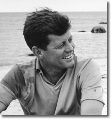 JFK (1917-1963) at the beach