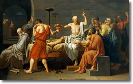 Trial of Socrates by David (1787)