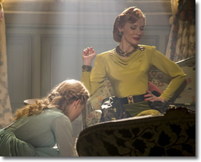 Cinderella and her Wicked Step Mother Lady Tremaine played by Cate Blanchett