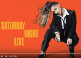 Ariana performs Dangerous Woman live on SNL March 12, 2016