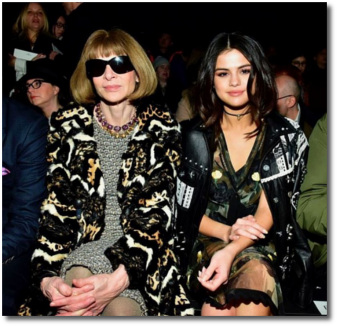 Selena with Dame Anna Wintour Editor of Vogue
