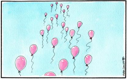 22 Pink Balloons #Manchester