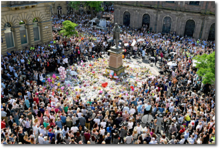 Public gathering in Manchester, England May 25, 2017
