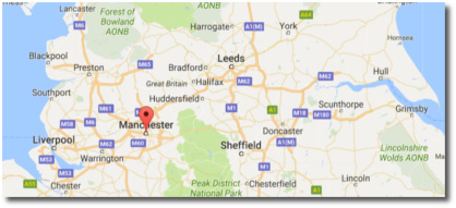 Manchester on Google maps