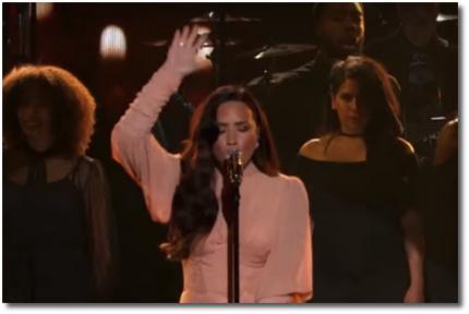 Demi Lovato Hallelujah SOMOS Live Oct 14, 2017