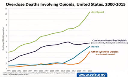 Opioid deaths in US grow with profits 2000-2015