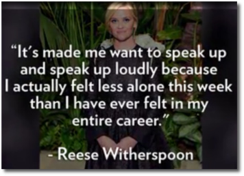 Reese Witherspoon is feeling less alone in the world