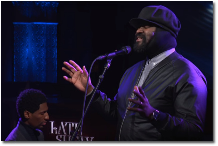 Gregory Porter singing Nature Boy with Jon Batiste on piano Nov 30, 2017