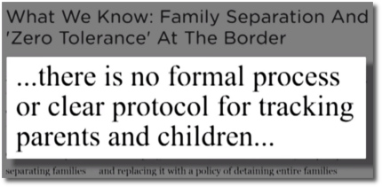 There is no formal process or protocol for tracking parents and children