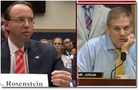 Rod Rosenstein responds to attacks from Jim Jordan (28 June 2018)